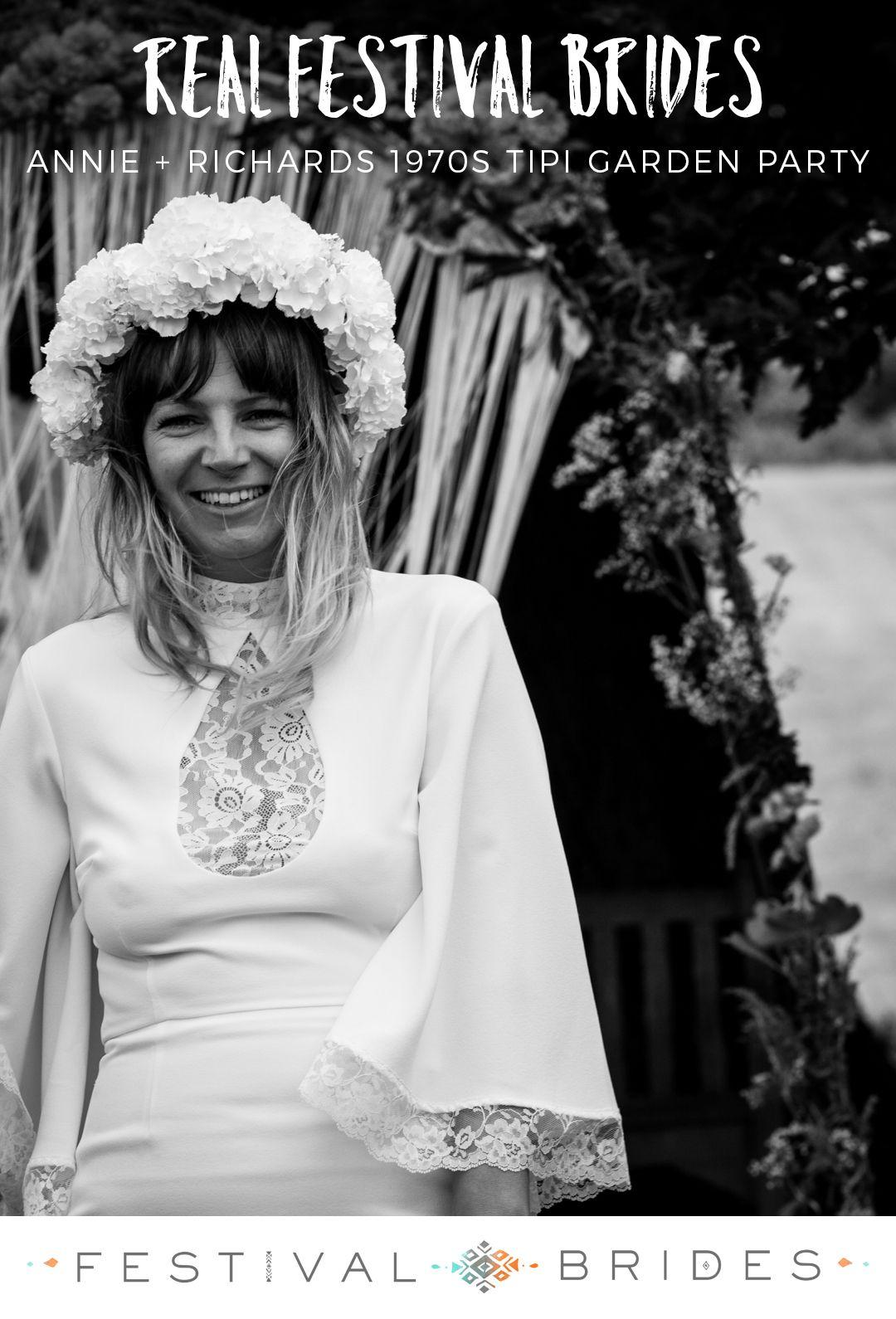 Festival brides annie richardus s bohemian tipi wedding