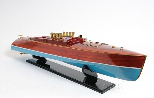 Dixie Ii Wood Speedboat Model Wooden Speed Boats Speed Boat Model Model Boats