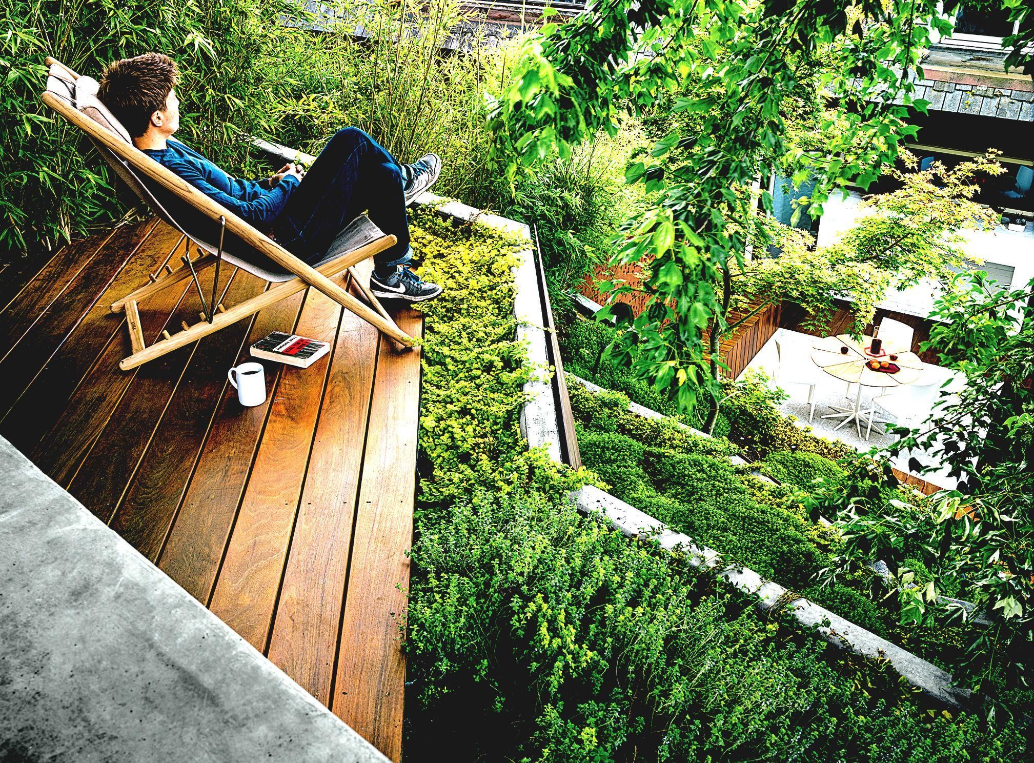 landscape ideas for steep backyard hill the garden inspirations charming urban gardens dwell landscaping on a hillside haven outdoor easy chair terrace - Urban Garden