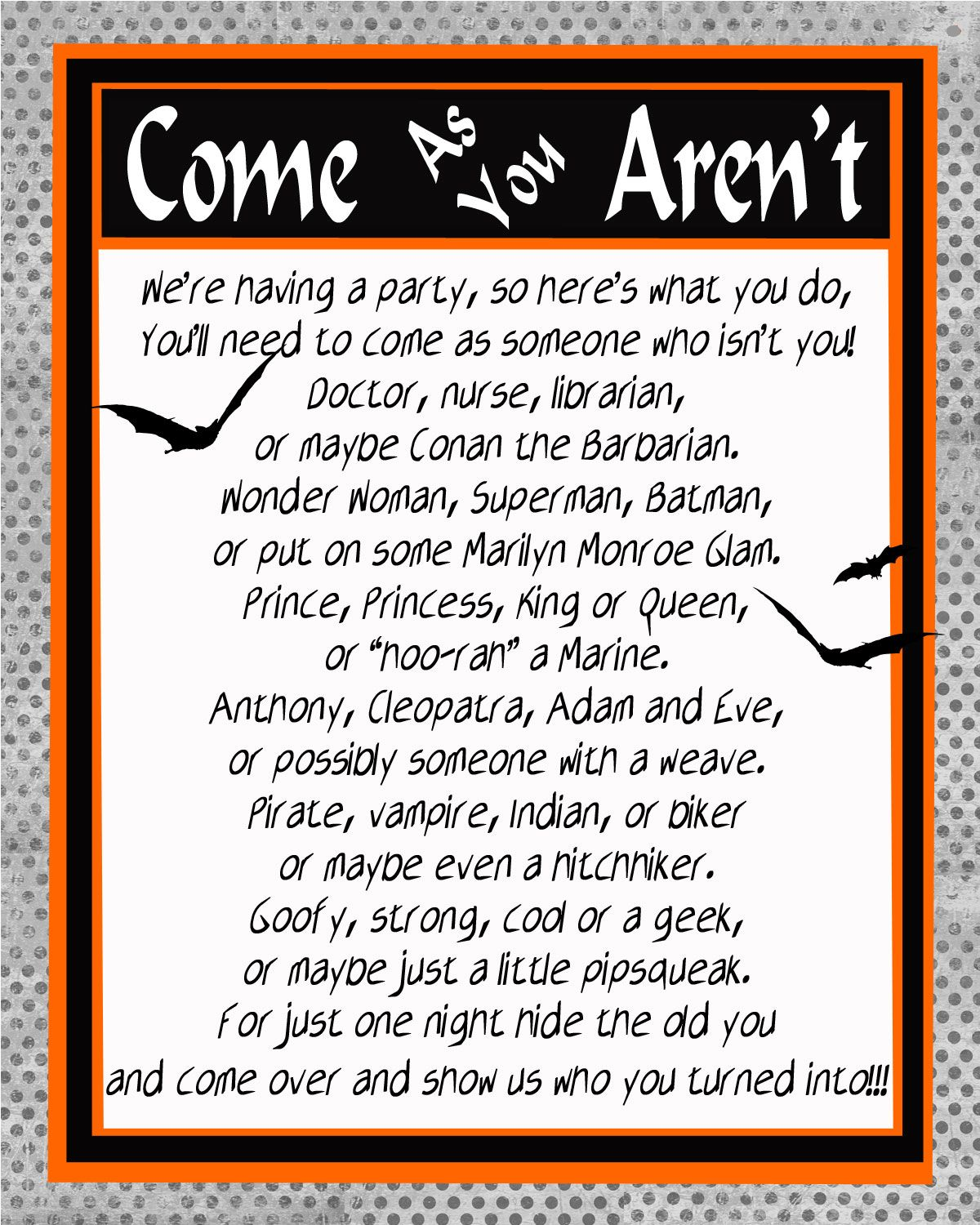 Invite Halloween Halloween Halloween Costume Party Invitations