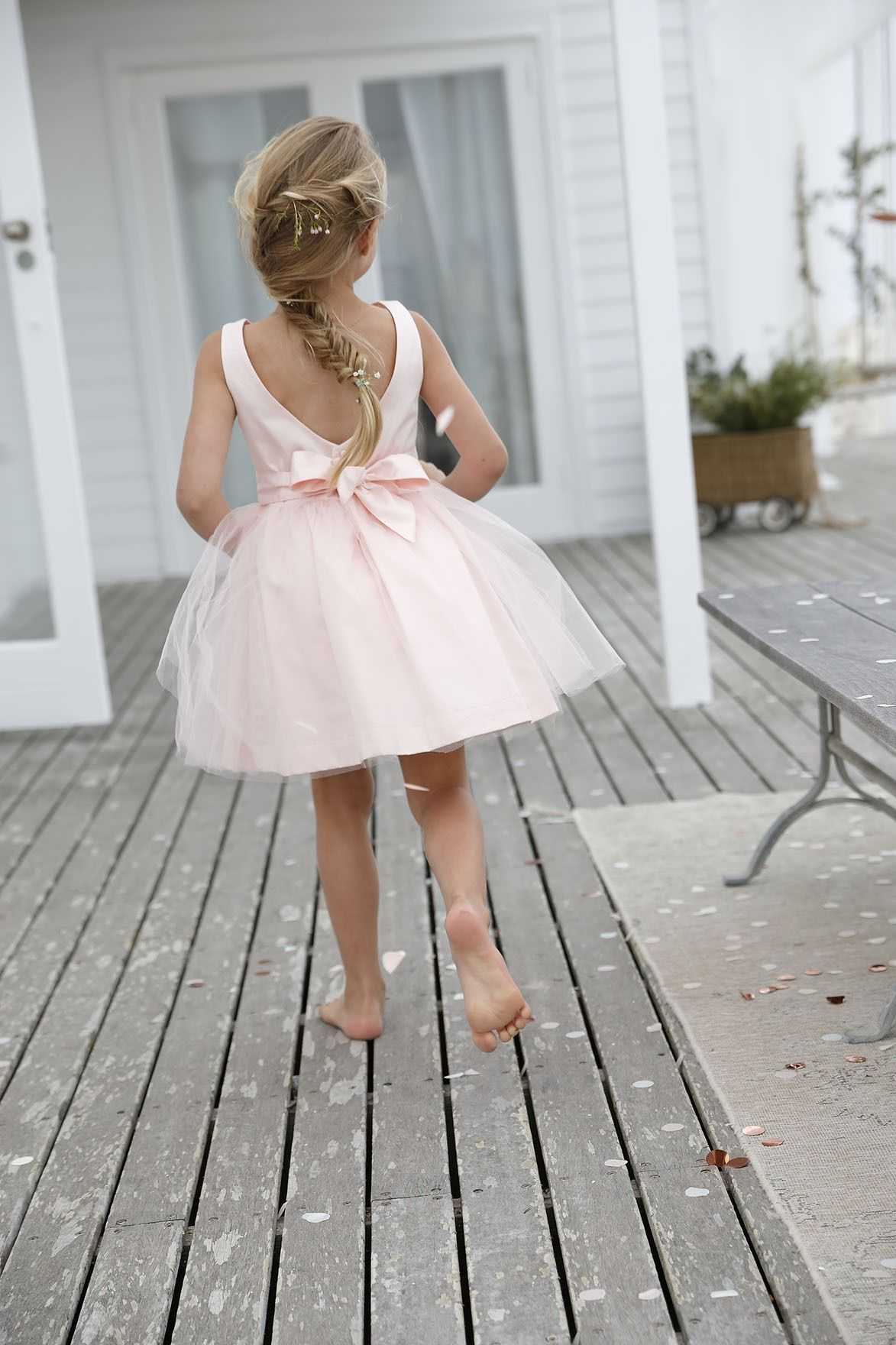 fille robe rose tulle gilet