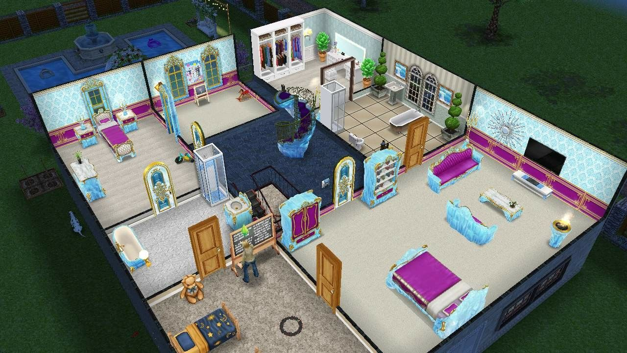 Sims Freeplay House Design With Ice Theme Furniture Sims Freeplay
