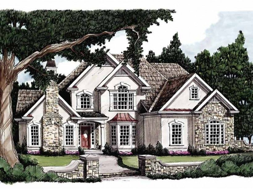 European Style House Plan 4 Beds 3 5 Baths 2930 Sq Ft Plan 927 77 In 2020 American Houses