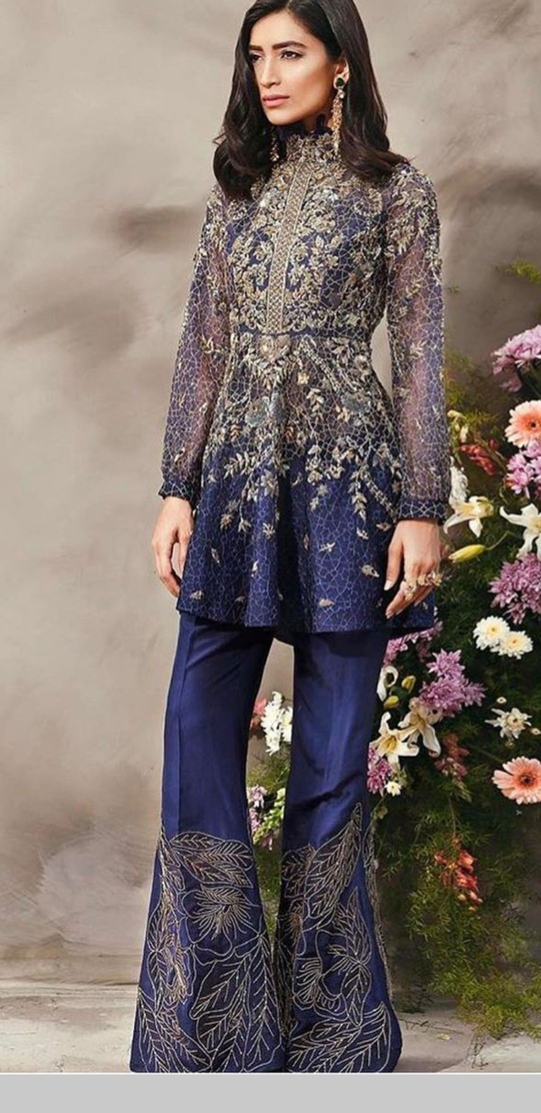 441097a75c Punjabi Fashion, Ethnic Fashion, Indian Fashion, Plazzo Pants Outfit,  Bridal Dresses 2018