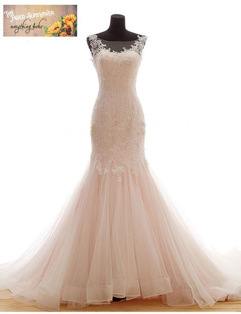 Vintage French Lace and Tulle Mermaid Gown - Plus size Up to 26W ...