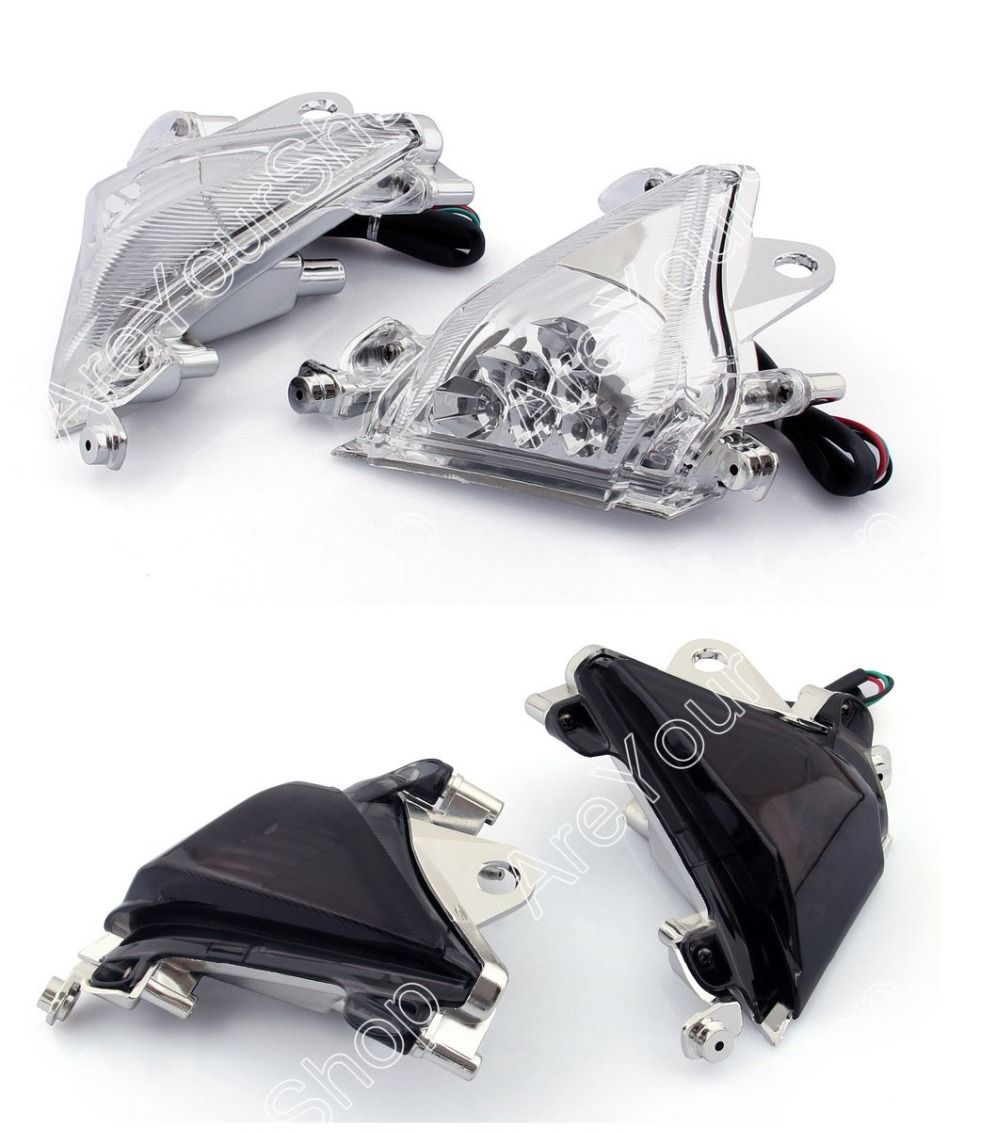 Sale 2 Pcs For Kawasaki ZX10R 2004-2005 Clear Smoke Motorcycle Front ...