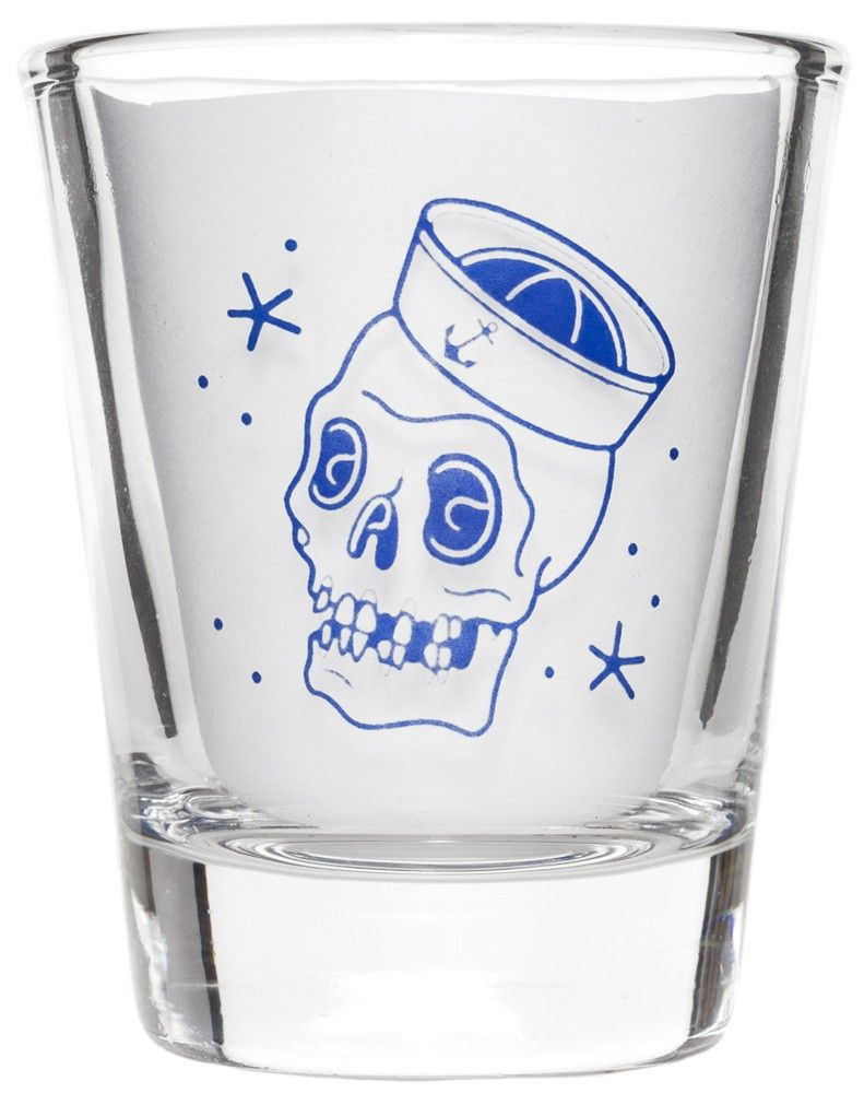 (12/25/13) SOURPUSS LIMITED EDITION SAILOR SKULL SHOT GLASS