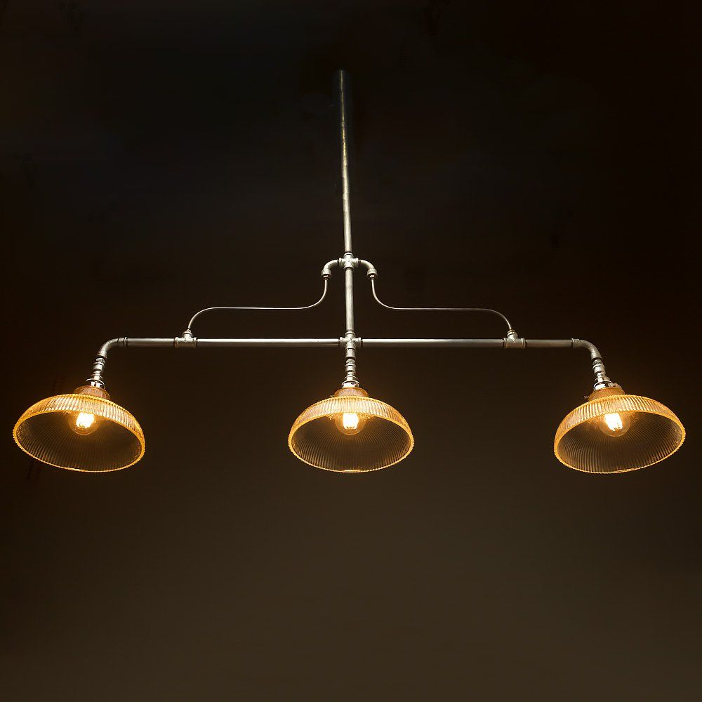 Braced Plumbing Pipe Billiard Table Light. This Light Fitting Can Be Used  To Light Up A Billiard Table Or Bar Or As A Ceiling Light Feature.