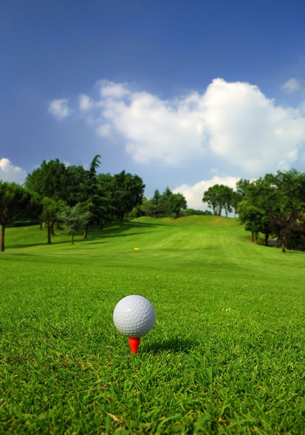 Golf Ball On Green Grass With Golf Course Background 01 Golf Courses Golf Wallpaper Backgrounds