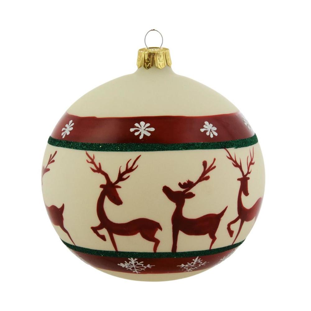 Bombka Szklana 10 Cm 1 Szt Recznie Dekorowana Mix Bombki I Ozdoby Choinkowe W Atrakcyjnej Cenie W Sklepach Ler Christmas Bulbs Christmas Ornaments Holiday