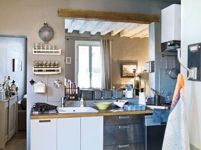 Une maison couleur du ciel - Elle Décoration Bar, Loft kitchen and
