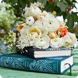book theme flowers