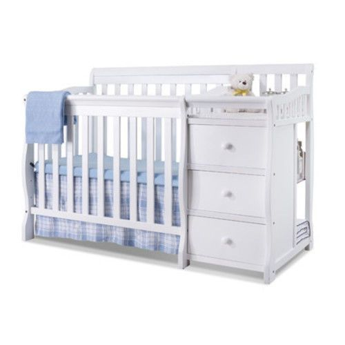 3-in-1 Convertible Mini Crib Changer Twin Bed Furniture Baby Cribs ...