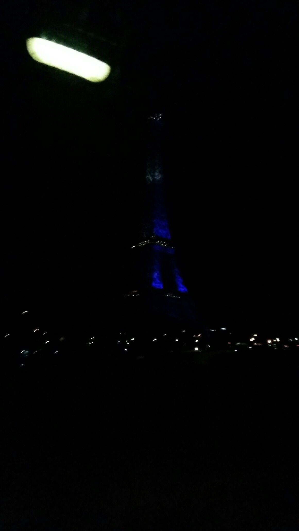 Menara Eifel Di Malam Hari Warna Bendera Prancis Bertepatan Dgn Piala Eropah Prancis Bendera Menara