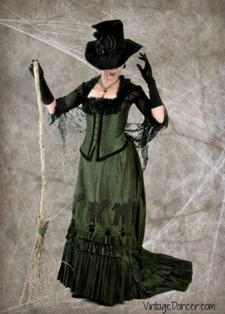 victorian witch halloween costume idea see more historical halloween costume ideas at vintagedancercom