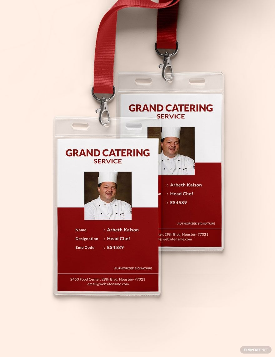 Catering Service Identity Card Template