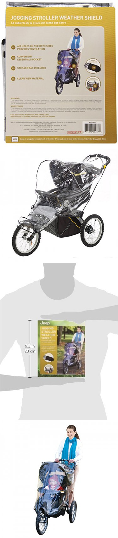 J is for Jeep Jogging Stroller Weather Shield, Baby Rain