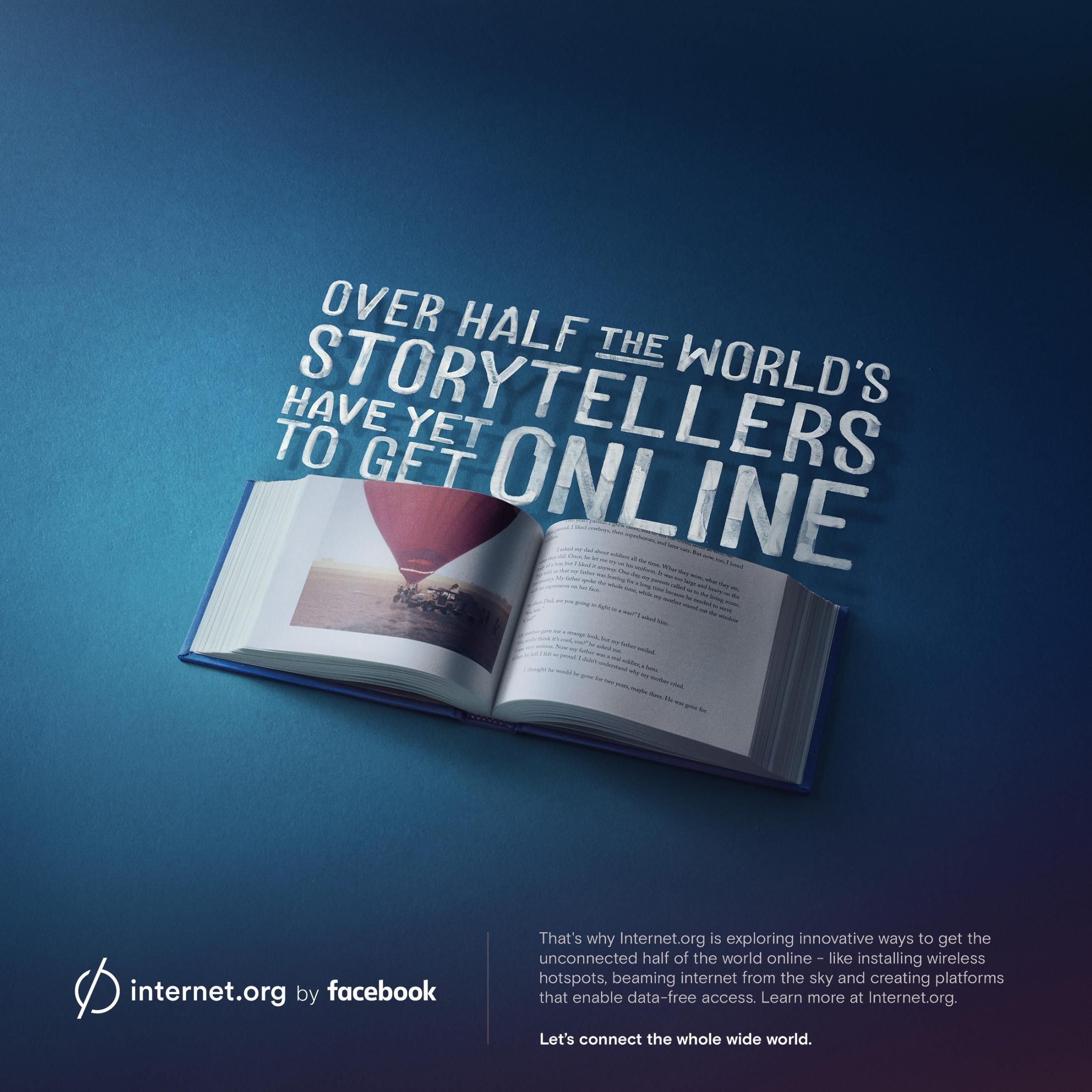 Http Adsoftheworld Com Media Print Facebook Internetorg Storytellers Facebook Print Storytelling Social Media Design Inspiration