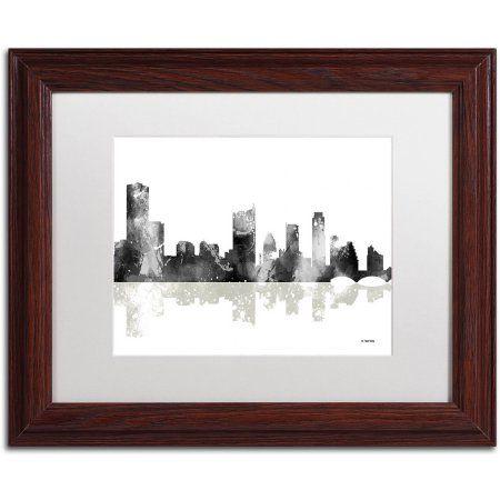 Trademark Fine Art Austin Texas Skyline BG-1 inch Canvas Art by ...