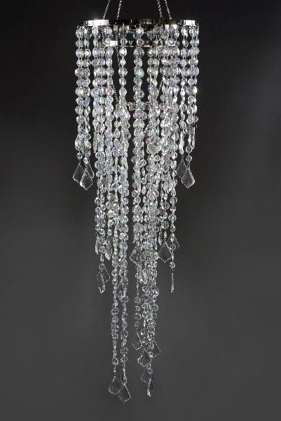 Plug In Chandelier With Acrylic Crystals 34in Save 36 Plug In