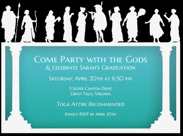 Design Your Invitation   Toga   Pinterest   Toga party ...