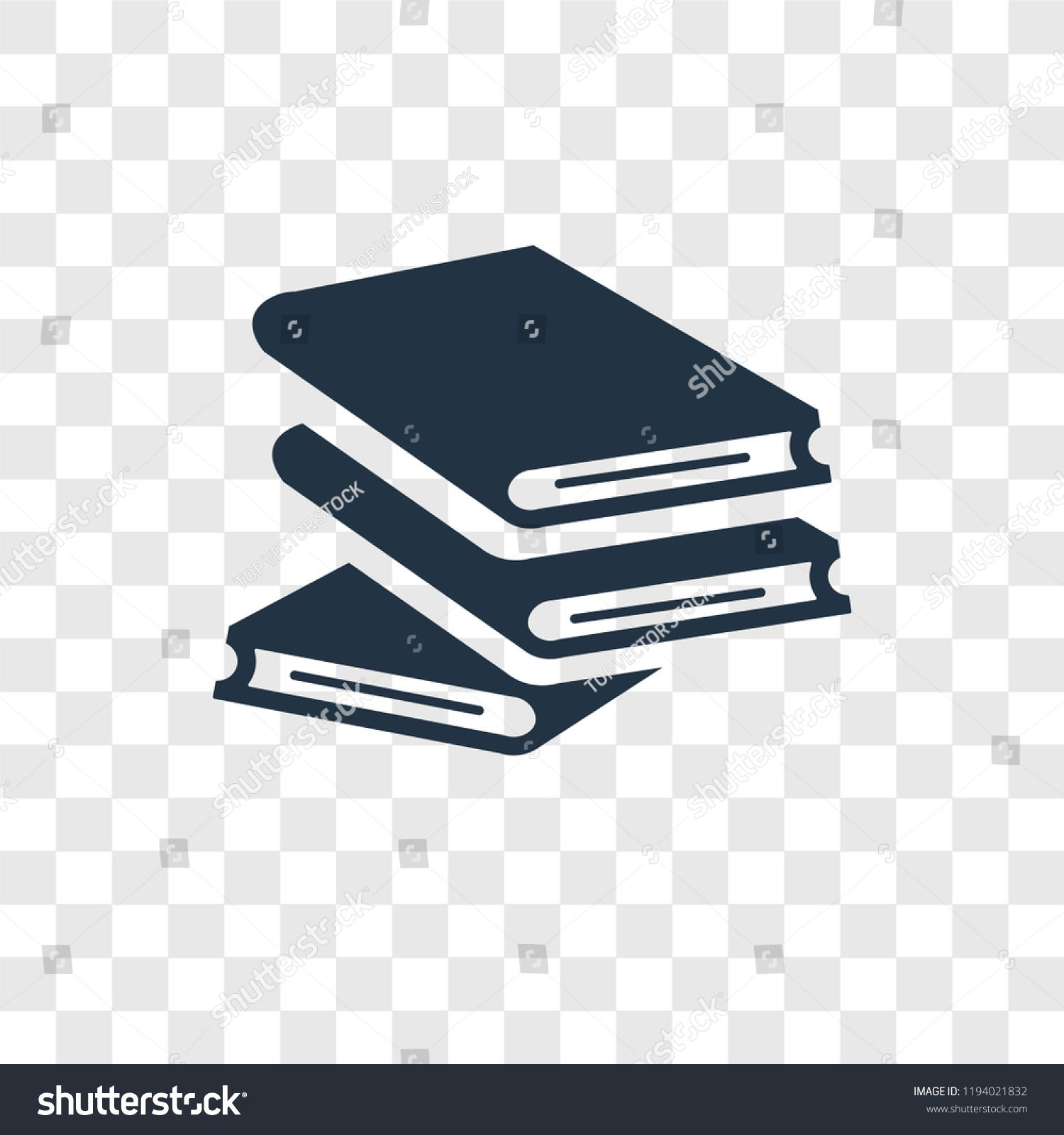 Book Vector Icon Isolated On Transparent Background Book