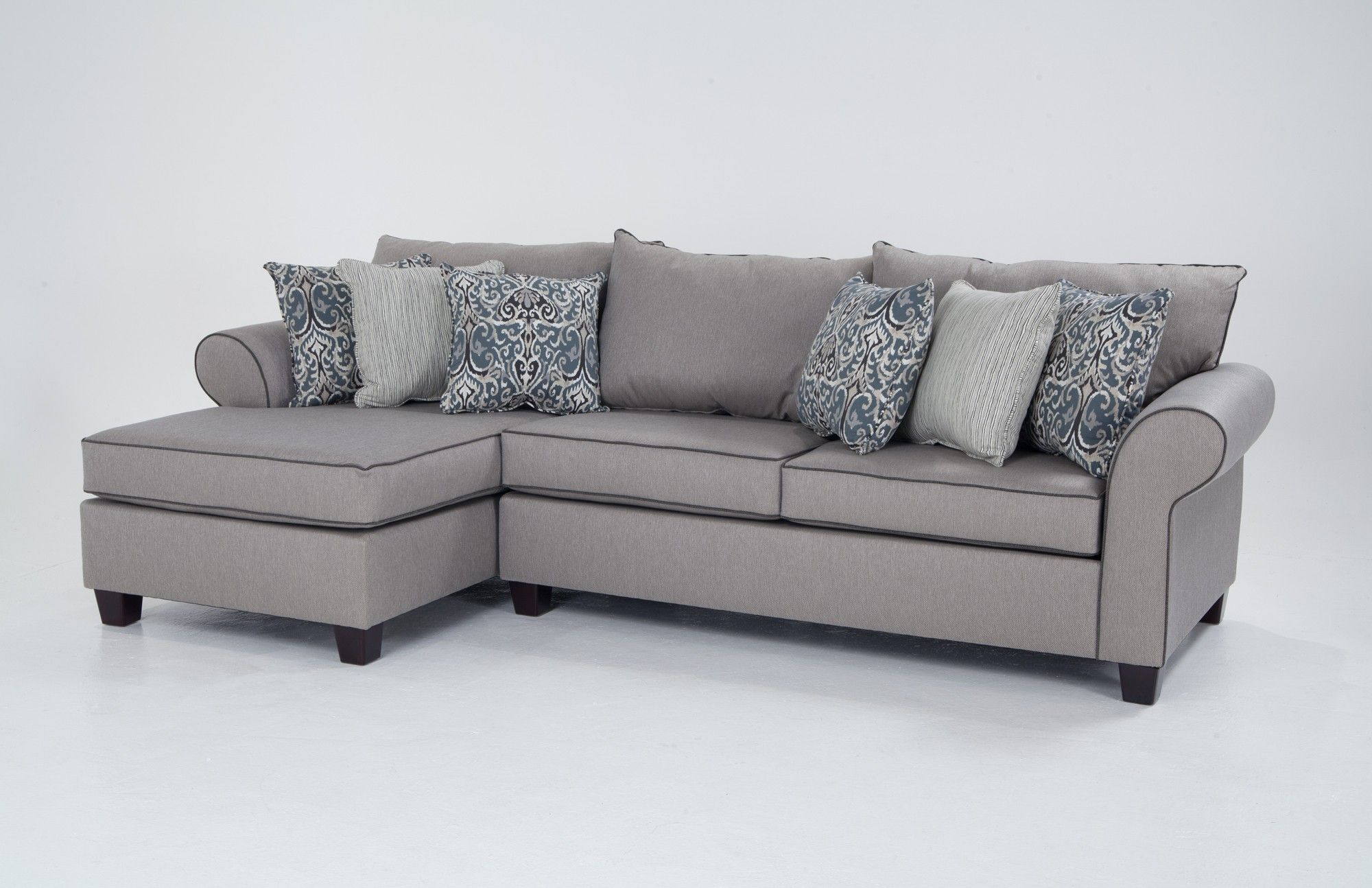 living room furniture discount table set big lots ashton 2 piece right arm facing sectional sofa with bob o pedic memory foam seating sleeper sets