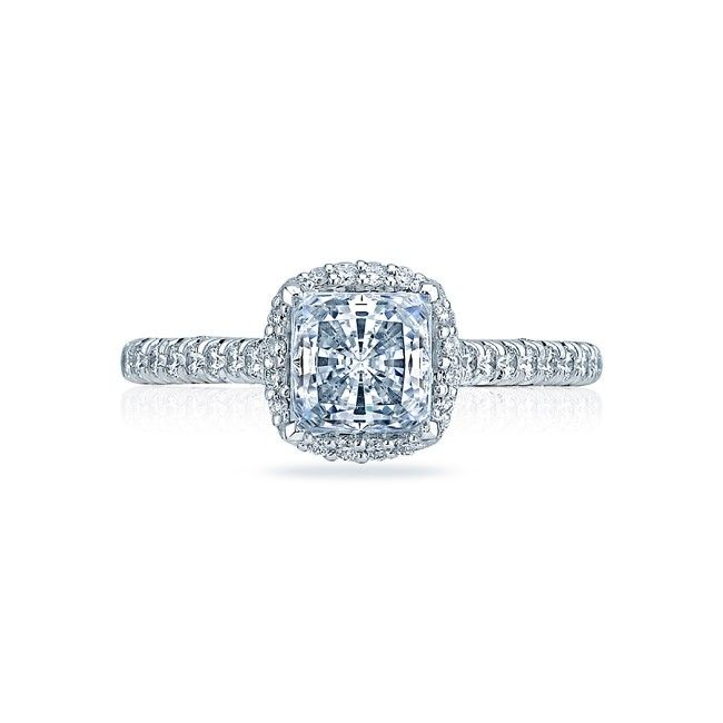 Tacori Platinum Pave Diamond Halo Engagement Ring. #Tacori #EngagementRing #WeddingRing #Diamonds #Designer #Love #Luxury #Always #Forever #halo #diamond #platinum #pave #rings