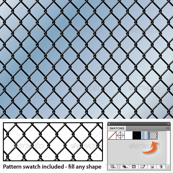 Chain Link Seamless Background Pattern  #GraphicRiver         Seamless vector chain link fence pattern. AI + EPS files included, which contain the background with a blue gradient, as shown in the preview, as well as a pattern swatch that you can use to fill any shape. Vector file — will scale to any size without loss of quality.     Created: 25June13 Add-onFilesIncluded: VectorEPS #AIIllustrator Tags: background #chain #chainlink #fence #illustrator #link #pattern #sky #urban #vector