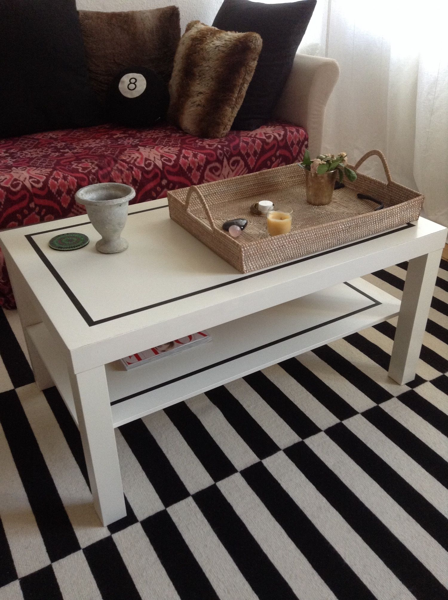 Ikea Lack Upgrade A Simple Stylish Diy Ikea Coffee Table Upgrade Home And Garden