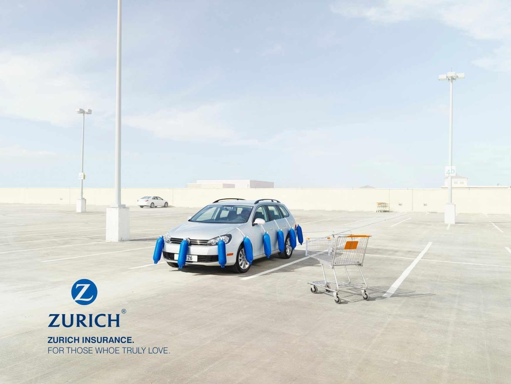 Zurich Insurance Company Car Protection Trolley Werbung