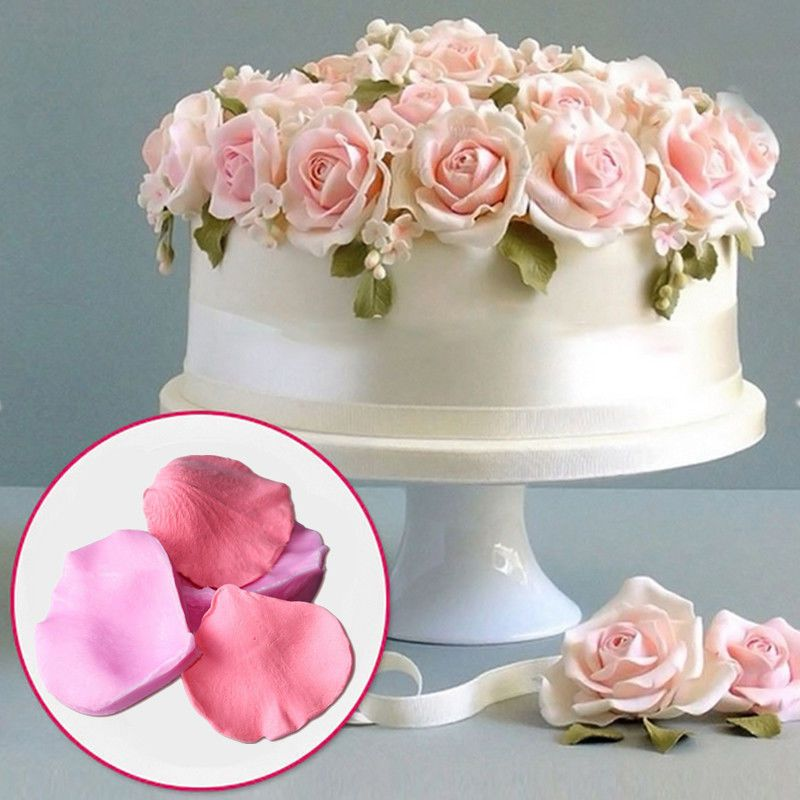 3d Rose Petal Mould Cake Flower Silicone Chocolate Fondant Mold Wedding Decor Unusual Wedding Cakes Cake Flower Cake