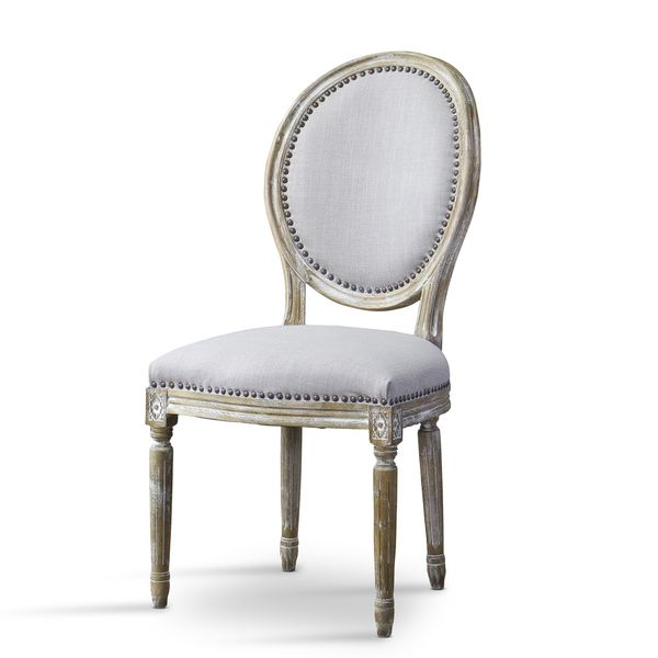 284 Clairette Wood Traditional French Accent Chair Round