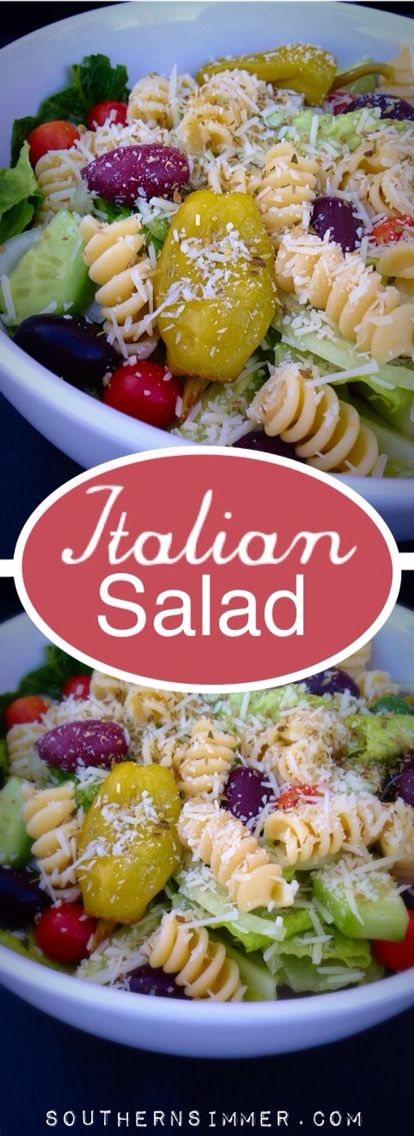 A delicious healthier alternative to a traditional Italian style pasta salad