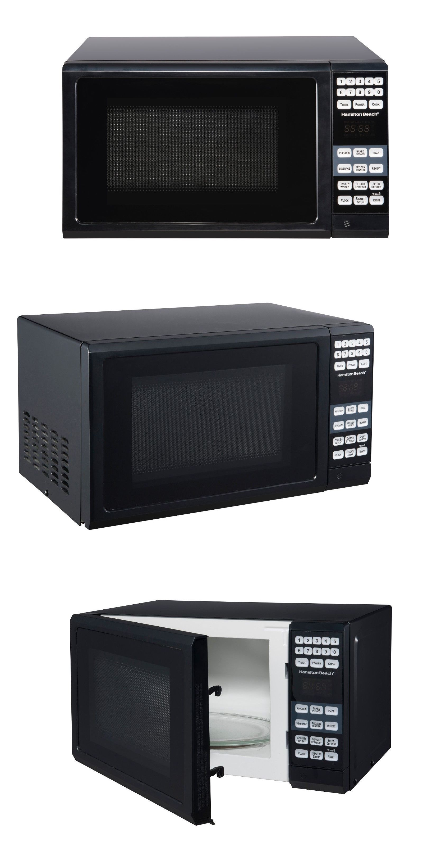 Microwave Ovens 150140 New Hamilton Beach 0 7 Cu Ft Microwave Oven 700w Black Buy It Now Only 52 On Ebay Microwave Microwave Oven Microwave Ovens
