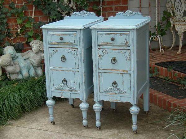 Antique furniture look blue paint color DIY ideas blue cabinets. Antique furniture look blue paint color DIY ideas blue cabinets