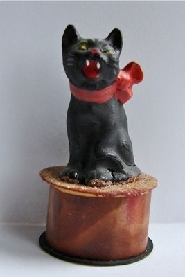 old vtg antique german black cat halloween candy container composition ebay