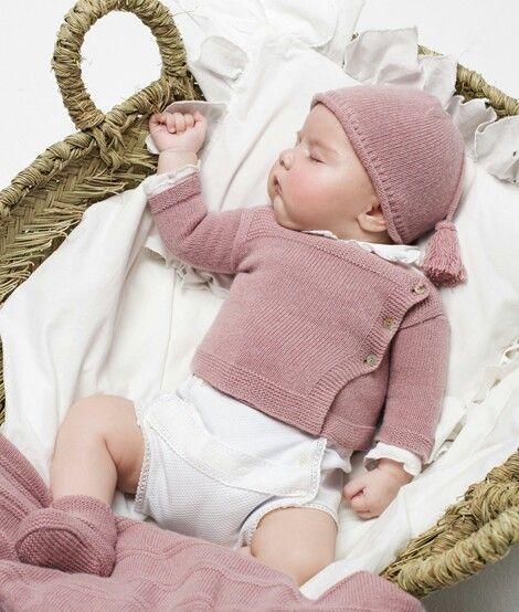 gorgeous rose baby knits. Nicoli #baby #designer #knits | Calceta ...