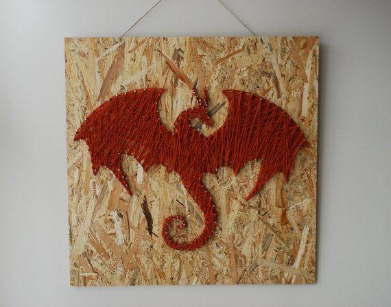 Dragon-String-Kunst aus Holz handgefertigt von FILATURE auf Etsy ...