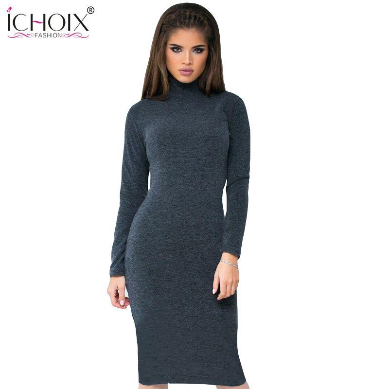 שמלות ערב שרוול ארוך חורף נשים dress vestidos סקסי מועדון תחבושת dress vestido דה festa שמלות נשים כותנה