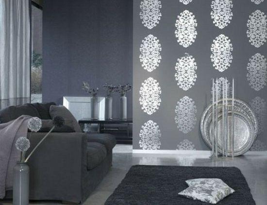 Tapeten Im Wohnzimmer \u2013 Eine Moderne Einrichtungsidee Wohnzimmer    Tapeten Wohnzimmer Braun