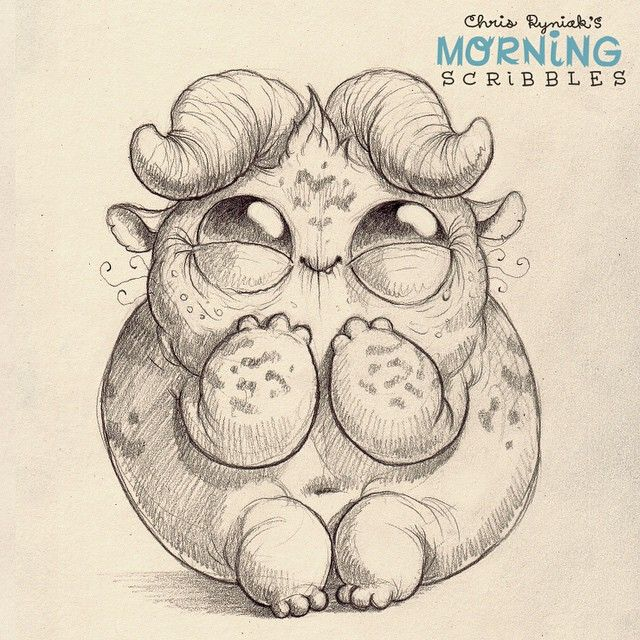 Trying so hard not to laugh.  #morningscribbles