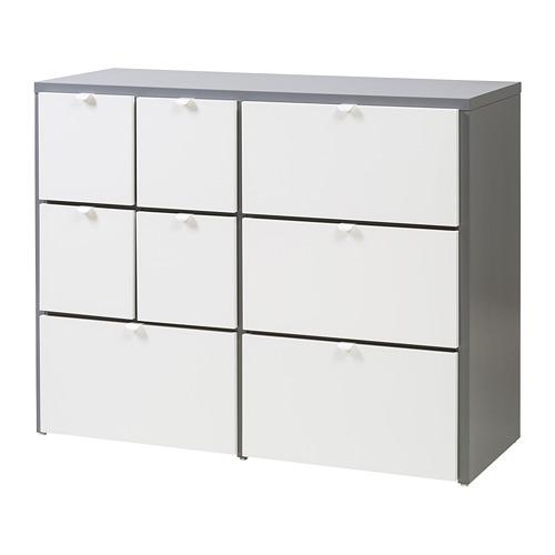 Kommode Mit 8 Schubladen Visthus Grau Weiß Ikea In 2019