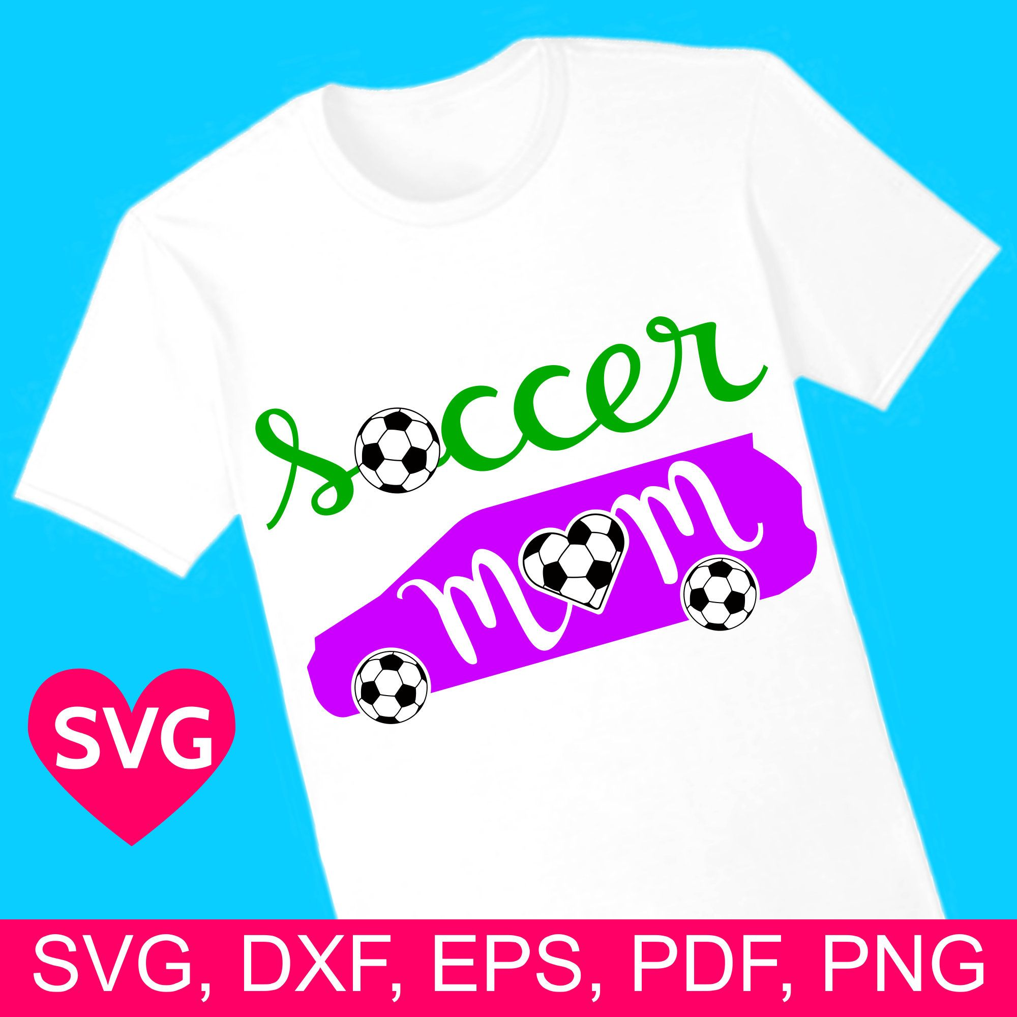 Soccer Mom Car SVG file for Cricut & Silhouette and