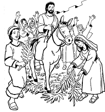 Image result for jesus rides on a donkey into jerusalem