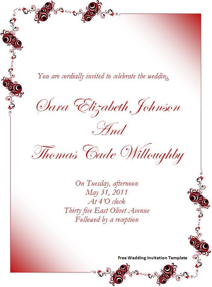 Free Wedding Invitation Templates For Word What S So I Wedding Invitations Printable Templates Free Wedding Invitation Templates Wedding Invitation Templates