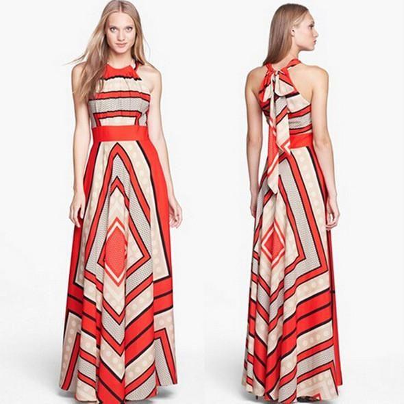 Simple Geommetric Halter Maxi Dress | Products | Pinterest ...