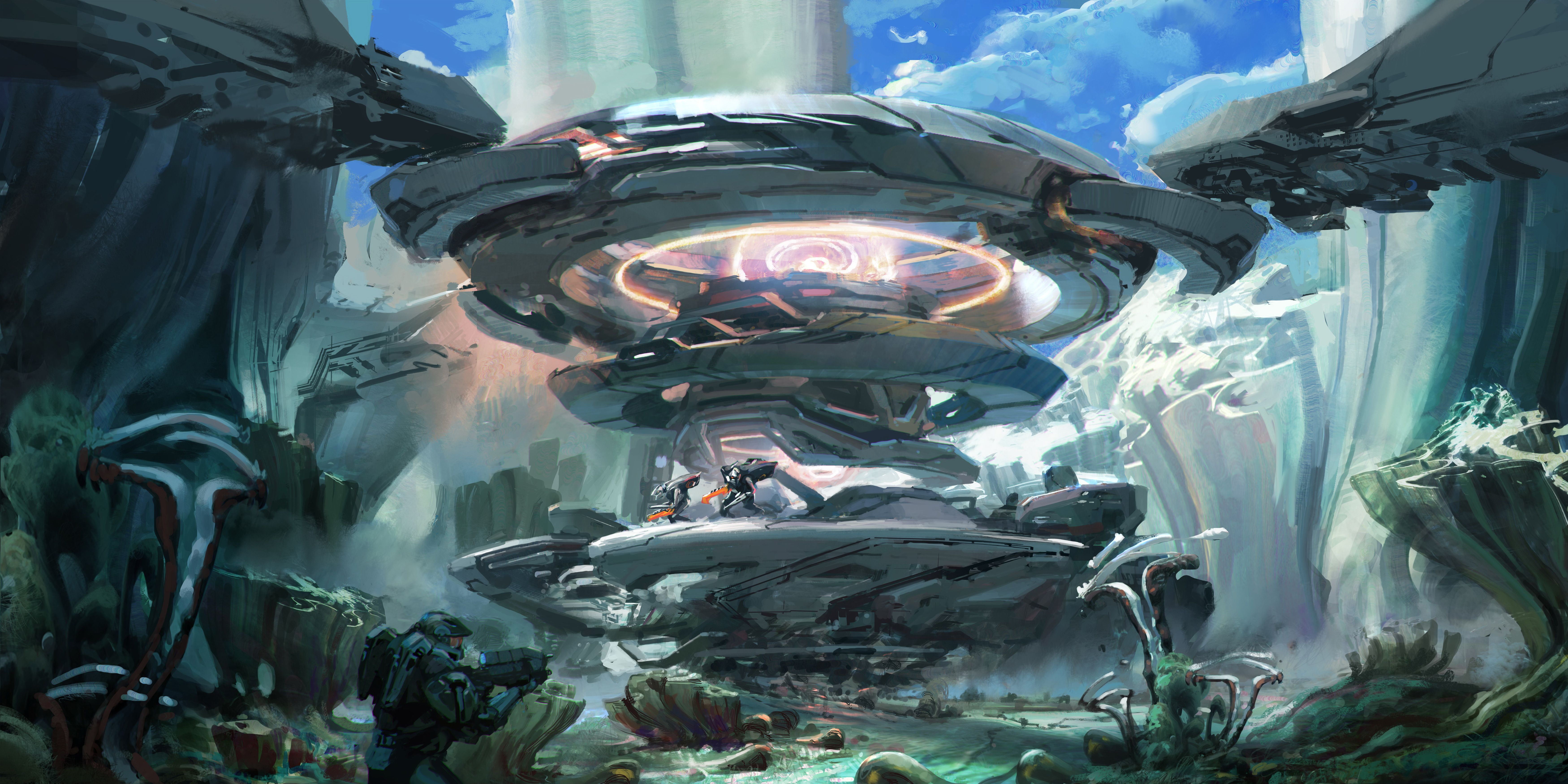 Halo 5 Guardians Awesome Wallpaper Concept Art Halo 5 Art