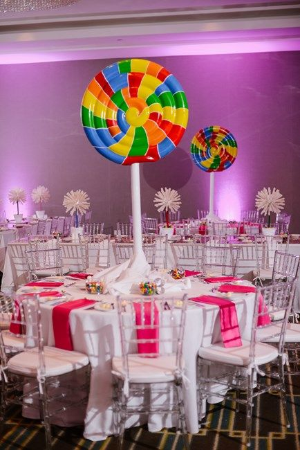 Giant Lollipops Candy Themed Sugar Buzz Bat Mitzvah Party