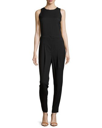 Open-Back Sleeveless Jumpsuit, Black by Romeo & Juliet Couture at Neiman Marcus Last Call.